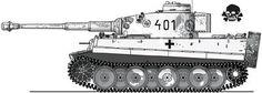 """Tiger tank from the 3rd SS """"Totenkopf"""". Kharkov 1943"""