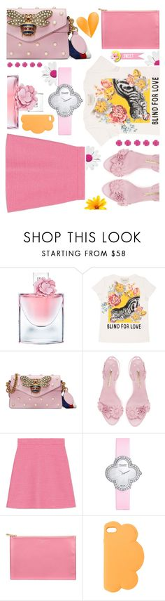 """Brighten up buttercup"" by sunnydays4everkh ❤ liked on Polyvore featuring Lancôme, Gucci, Van Cleef & Arpels, Aspinal of London and STELLA McCARTNEY"
