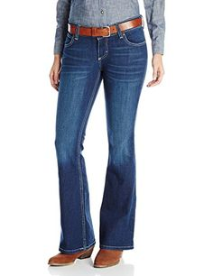 Wrangler Womens Rock 47 Flare Leg Jean Dark Blue 25x36 *** To view further for this item, visit the image link.(This is an Amazon affiliate link)