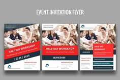 Event Invitation Flyer by Ali Sayed Design on @creativemarket