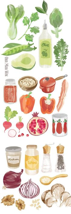 Food Illustration von Ohn Mar Win