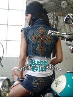 #denim #custom #patches #studs #RebelGirl