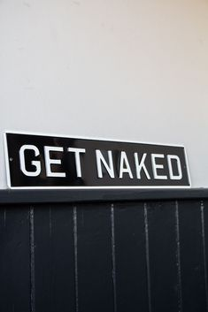Get Naked Metal Sign Wall Art