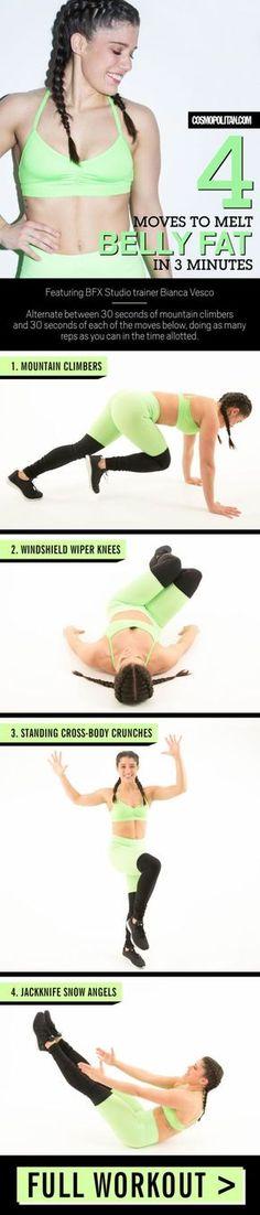 Een 3-minuten workout voor een strakkere buik