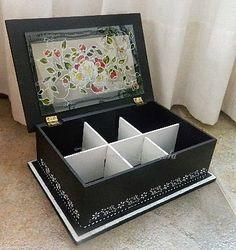 Artesanías Graciela: Cajas de té Diy Wood Projects, Projects To Try, Honey Packaging, Decoupage Box, Tea Box, Altered Boxes, Paint Furniture, Toy Boxes, Ideas Para