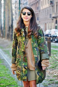 #camo #army --- this look is boyish, effortless, the type of effortless look I'm trying to explore.