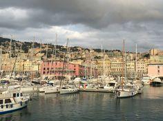 Genoa harbor in  Italy