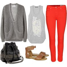 RED & READY, created by nicolenelson on Polyvore