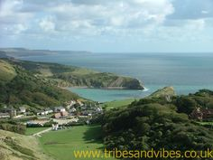 Lulworth Cove, Dorset, UK. This is the view from the top of the hill as you walk towards Durdle Door. Awesome!