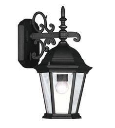 Livex Lighting Hamilton 1 Light Outdoor Wall Lantern in Black 7555-04 #livex