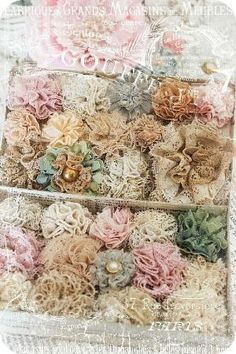 """DIY:: Doily, Lace, And Vintage Flower Tutorials ! You Now Have No Excuse - to Not """"Shabby Up"""" any Decor :): by bridgette.jons"""