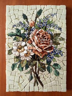 Marble Mosaic Flowers, Roses Painting Tiles, Roman Mosaic Flowers, Framed Painting Flowers, Home Dec Fauna and Flora are two terms … Mosaic Tile Art, Mosaic Artwork, Mosaic Crafts, Mosaic Projects, Marble Mosaic, Stone Mosaic, Mosaic Glass, Mosaic Designs, Mosaic Patterns