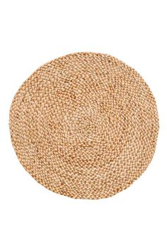 Round jute table mat - Natural - Home All | H&M CA