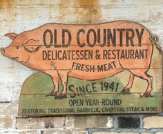 Pig Cutout Wall Decor   Old Country Pig Sign
