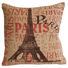 Paris Pillow; i love parisian themed stuff