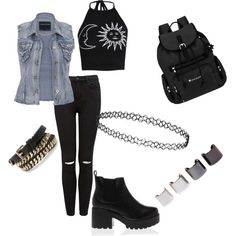 Grunge style by andyriix on Polyvore featuring polyvore fashion style Boohoo maurices Forever New Sherpani Topshop Violeta by Mango