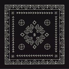 Bandana designed by Brothers Design Co for silversmith Chad Barela. Bandana Scarf, Bandana Print, Cool Bandanas, Pattern Design, Print Design, Vintage Bandana, Bandana Design, Scarf Design, Designs To Draw