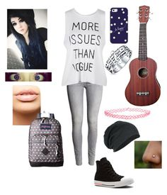 """Random"" by sparklequeen2345 on Polyvore featuring H&M, Converse, MDMflow, JanSport, Casetify, Wet Seal and Bling Jewelry"