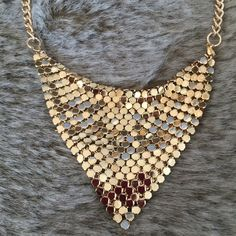 """Gorgeous Gold Tone Chain Mail Bib Necklace Gorgeous Gold Tone Chain Mail Bib Necklace. Feels Great On Your Skin! ✨On Trend✨Checkout My Closet For Gunmetal Option. Adjustable Length Apx. 17"""" - 20"""". Costume JewelryBRAND NEW, Arrives Beautifully Wrapped  Jewelry Necklaces"""