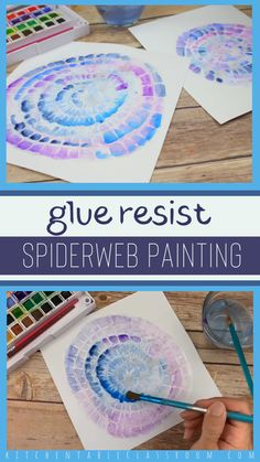 Draw a glue spiderweb drawing inspiration from a popular cookie decorating technique and then add color with a watercolor wash! Draw a glue spiderweb drawing inspiration from a popular cookie decorating technique and then add color with a watercolor wash! Fall Art Projects, Projects For Kids, Unique Art Projects, Art Education Projects, Toddler Art Projects, Arte Elemental, Middle School Art, High School, Process Art