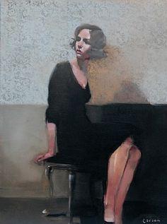 artnet Galleries: Thoughtful Gaze by Michael Carson from Bonner David Galleries