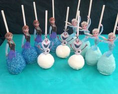 Frozen Cake Pops! Elsa, Anna and Olaf Cake Pops! Frozen Birthday Party!