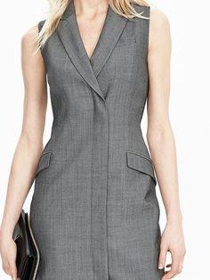 Sleeveless Tux Dress Product Image