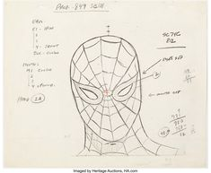 Spider-Man Model Sheet (Grantray-Lawrence, c. Marvel Cartoons, Male Models, Spiderman, Auction, Image, Hay, Men Models, Spider Man