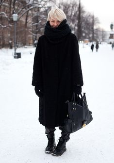 """""""Winter in Helsinki"""" look. Probably wouldn't be able to pull it off, yet i love it nonetheless."""