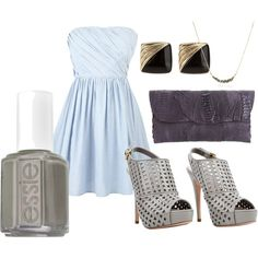 Summer Wedding Guest Outfit, created by fascinatedbyclothes on Polyvore