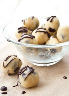 Sugar free low carb cookie dough - a no bake chocolate chip dough that's gluten free and a delicious guilt-free treat. Ready in one minute!