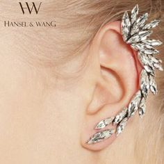 1pcs Right Ear Cuff Earrings Silver Plated Clip on Earrings Earcuff Earring Ear Cuffs for Women Girls Fashion Rhinestone Jewelry-in Clip Earrings from Jewelry & Accessories on Aliexpress.com | Alibaba Group
