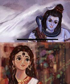 Shiva Shakti, Rudra Shiva, Shiva Parvati Images, Lord Krishna Images, Durga Maa, Arte Shiva, Shiva Art, Krishna Art, Hindu Art