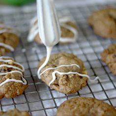 Vanilla Glazed Spiced Apple Cookies- say hello to fall with these delicious little cookies!