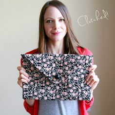 DIY Clutch // Caught On A Whim