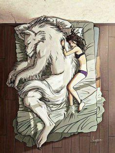 Wolf love she vampire human girl name jelly Fantasy Creatures, Mythical Creatures, Illustration Art Dessin, Character Inspiration, Character Design, Creepy, Street Art, Werewolf Art, Drawn Art