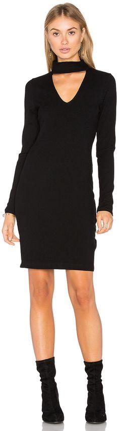 Eight Sixty Long Sleeve Ribbed Dress
