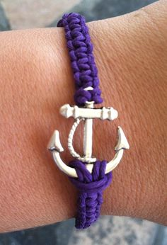 PURPLE Anchor Bracelet by krystleskrafts on Etsy, $5.00 NEW COLOR