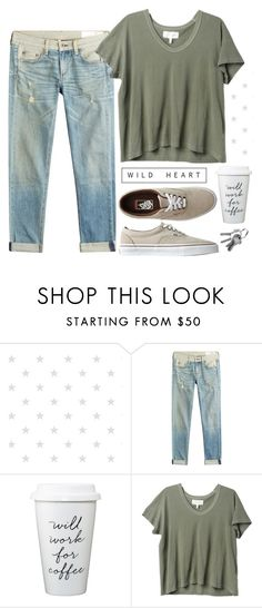 """Coffee day"" by alexandra-provenzano ❤ liked on Polyvore featuring rag & bone, The Great and Vans"