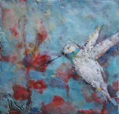 """Part of my hummingbird painting series. 8""""x 8"""", please visit my website or message me your email to be added to my art newsletter. Hummingbird Painting, Show Me The Way, Contemporary Paintings, Fine Art, Gallery, Artist, Website, Roof Rack, Artists"""
