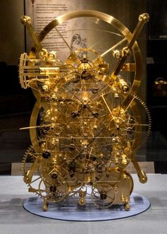 "The front of John Harrison's H3 timekeeper in the ""Ships, Clocks & Stars"" exhibit at Mystic Seaport. Photo by Andy Price/Mystic Seaport. Photo: Contributed Photo / Copyright Mystic Seaport"