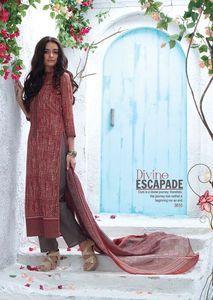 Ganga 3610 - Pakistani style Suit Dupatta with Plazo