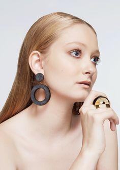 'Coal-lection' by Mei-ling de Buitléar Make Design, Jewelry Making, Drop Earrings, Jewellery, Accessories, Fashion, Moda, Jewels, Fashion Styles