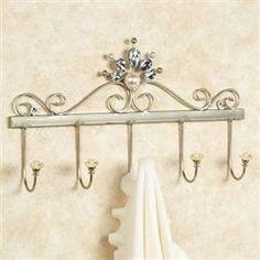 Giselle Wall Hook Rack Platinum