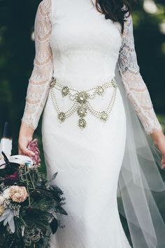 10 Beautiful Bridal Sashes & Belts