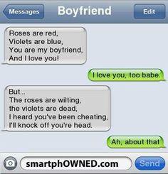 Cheating Boyfriend Poems ouch O.