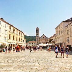 The main square in Hvar in Croatia. Friday Flats