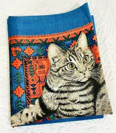 Black Cat wPurple Background Here Kitty Kitty Beaded Earrings