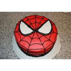 Spiderman Cake Photo: This Photo was uploaded by sandyctaylor. Find other Spiderman Cake pictures and photos or upload your own with Photobucket free im. - Visit to grab an amazing super hero shirt now on sale! Spiderman Birthday Cake, Spiderman Theme, Superhero Cake, Superhero Birthday Party, Birthday Fun, Cake Birthday, Spiderman Face, Spiderman Pictures, Healthy Birthday