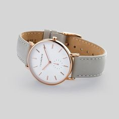 Rose Gold Watch with Grey leather band • Style School ByDanie